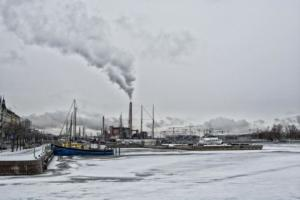 106 Le Port d'Helsinki en Hiver, Christian Georget
