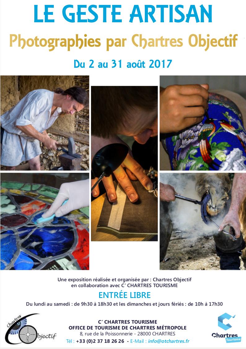 Chartres Objectif expose «le geste artisan» à l'office de tourisme de Chartres
