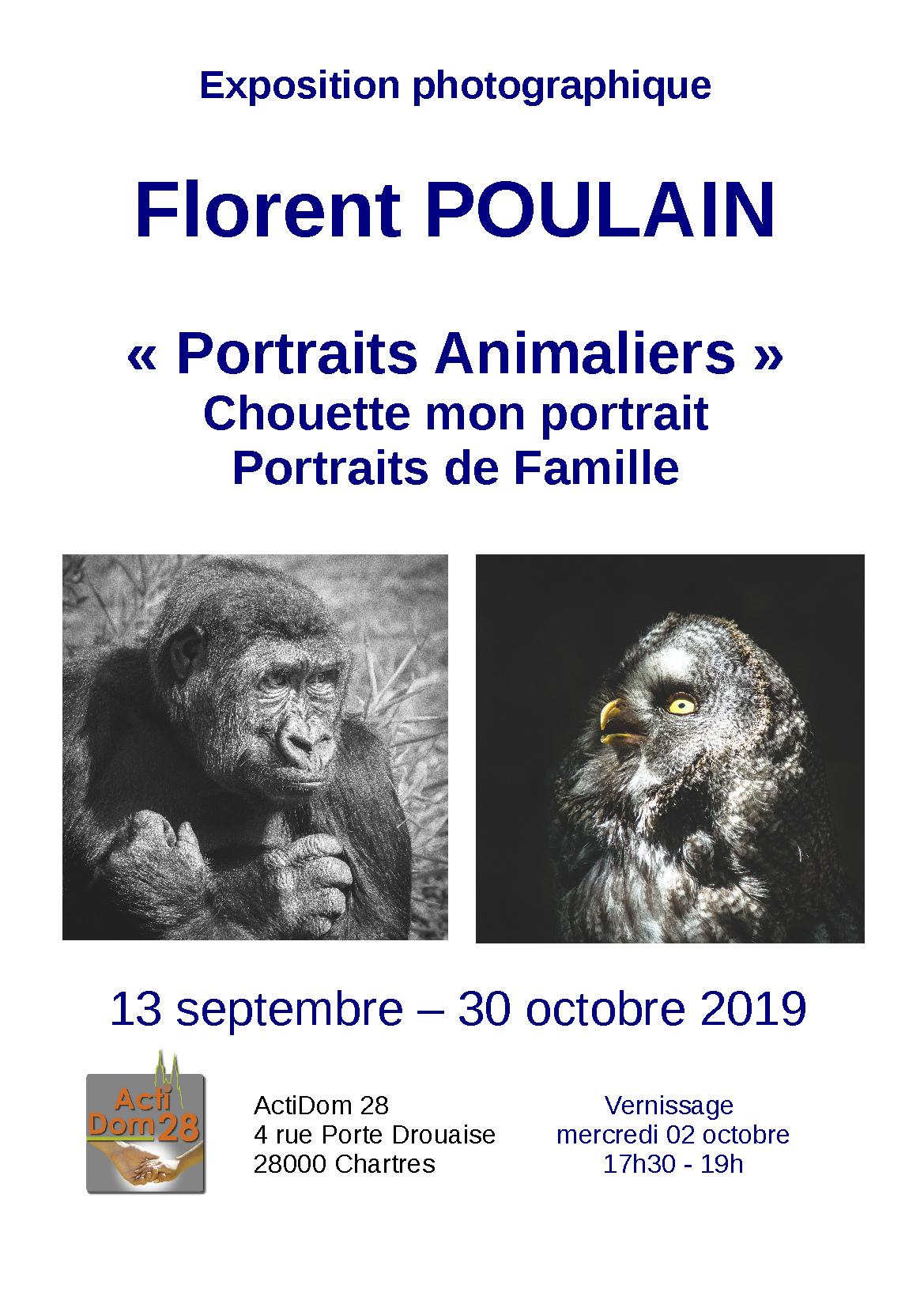 Florent Poulain expose chez ActiDom28