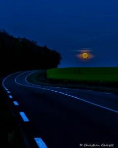 Levé de Lune dans le Perche