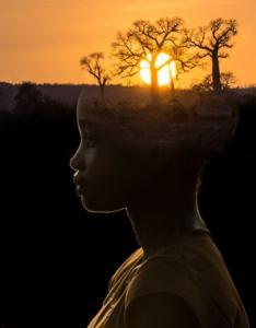 165 Béatrice Dumont - Jeune fille aux baobabs